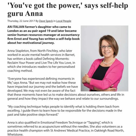 'You've got the power,' says self-help guru Anna